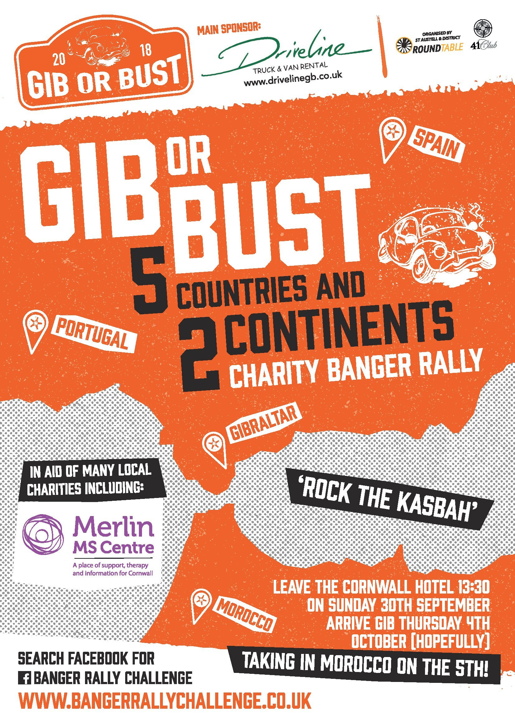 GIB OR BUST Poster Merlin MS Centre