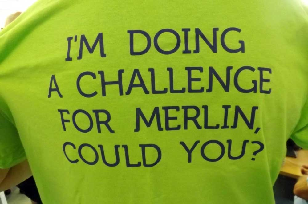 im doing a challenge for merlin ms centre cornwall